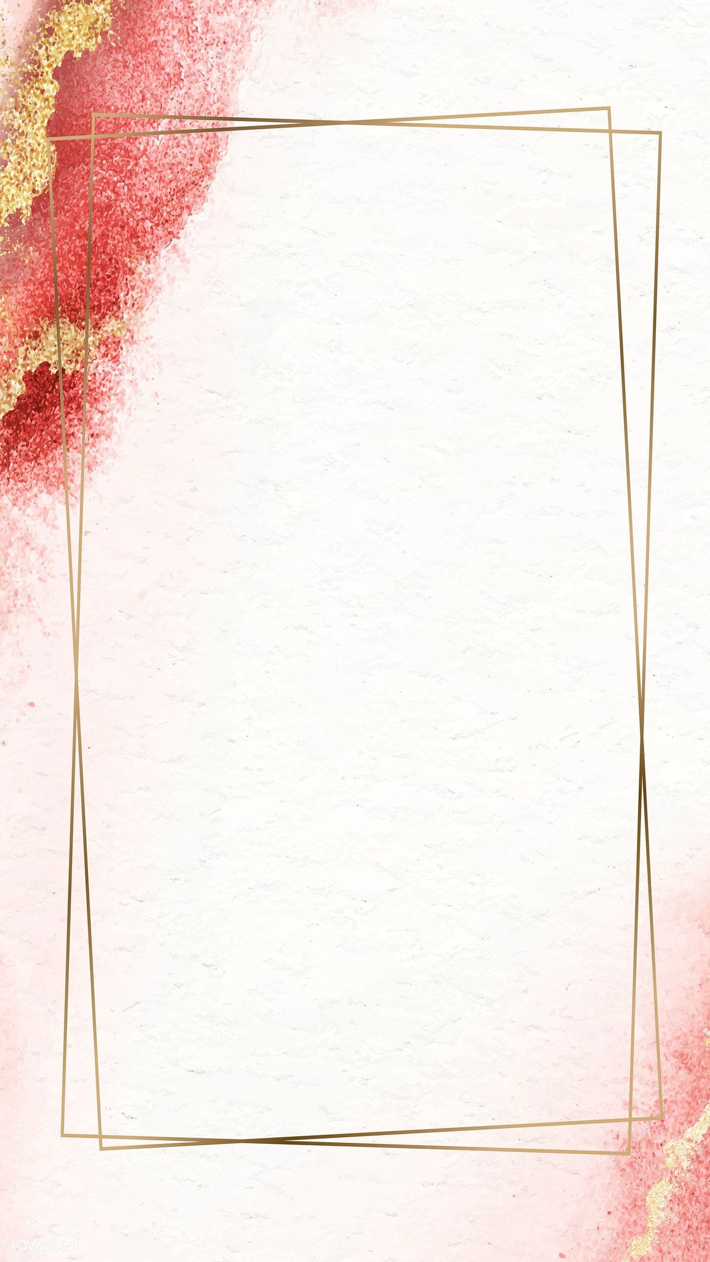Download Premium Vector Of Rectangle Golden Vintage Frame Design Poster Background Design Flower Background Wallpaper Frame Border Design