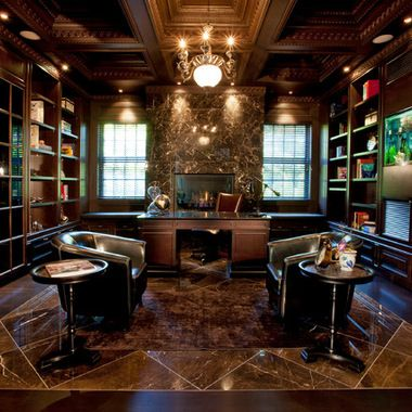 Man's Office Design Ideas, Pictures, Remodel, and Decor