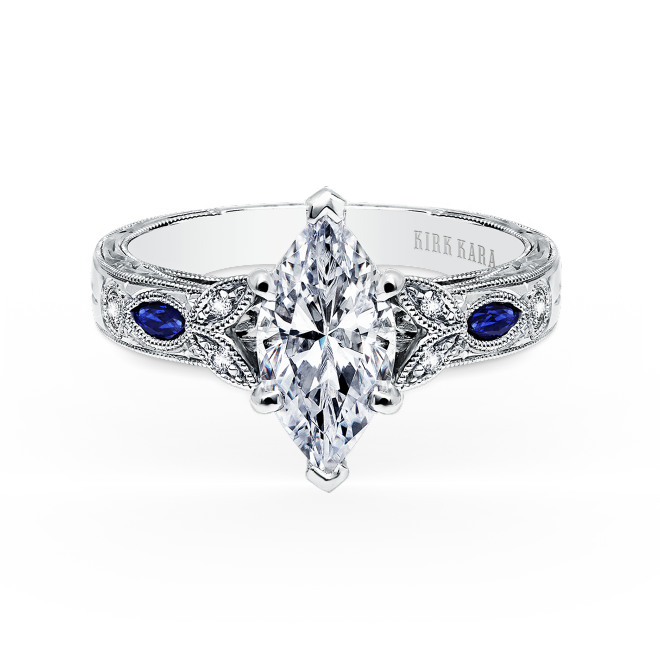 Kirk Kara Dahlia Collection Design No K1126sdg R Sapphire Engagement Ring Blue Engagement Rings Sapphire Diamond Sapphire Engagement Ring
