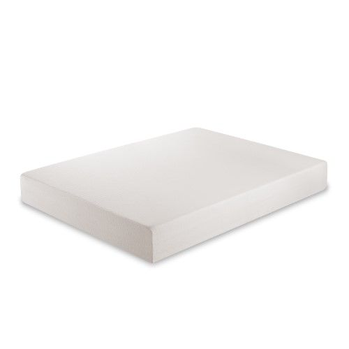 Zinus 10 In Green Tea Memory Foam Mattress Queen White