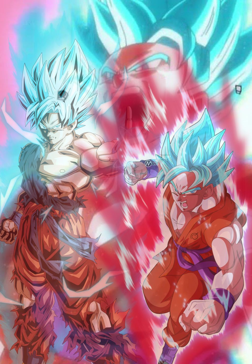 Kaioken/SSBlue Goku