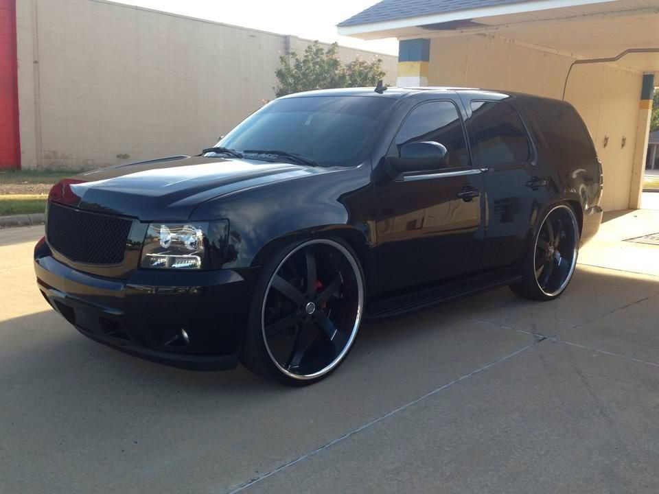 Chevy Tahoe On 28s U2s 28 Inch Big Wheel Cars Chevrolet See