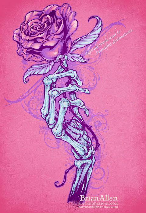 Skeleton Hand Holding Rose T Shirt Design Skeleton Hand Tattoo