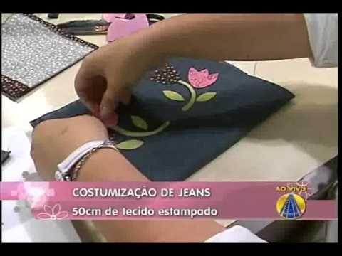 Avental Customizado em Jeans com Película Mágica VIVI PRADO - Programa Mulher.com (29/07/2011) - YouTube