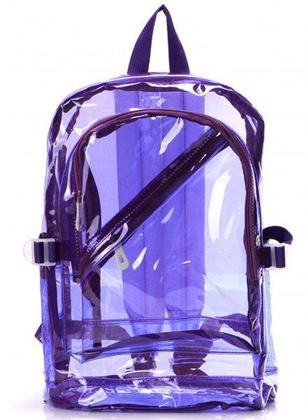 2b4202e21c0402 The raddest bag of em' all!!!! Details: * Zip Closures * See through PVC  material * Jelly transparent body * Length 17