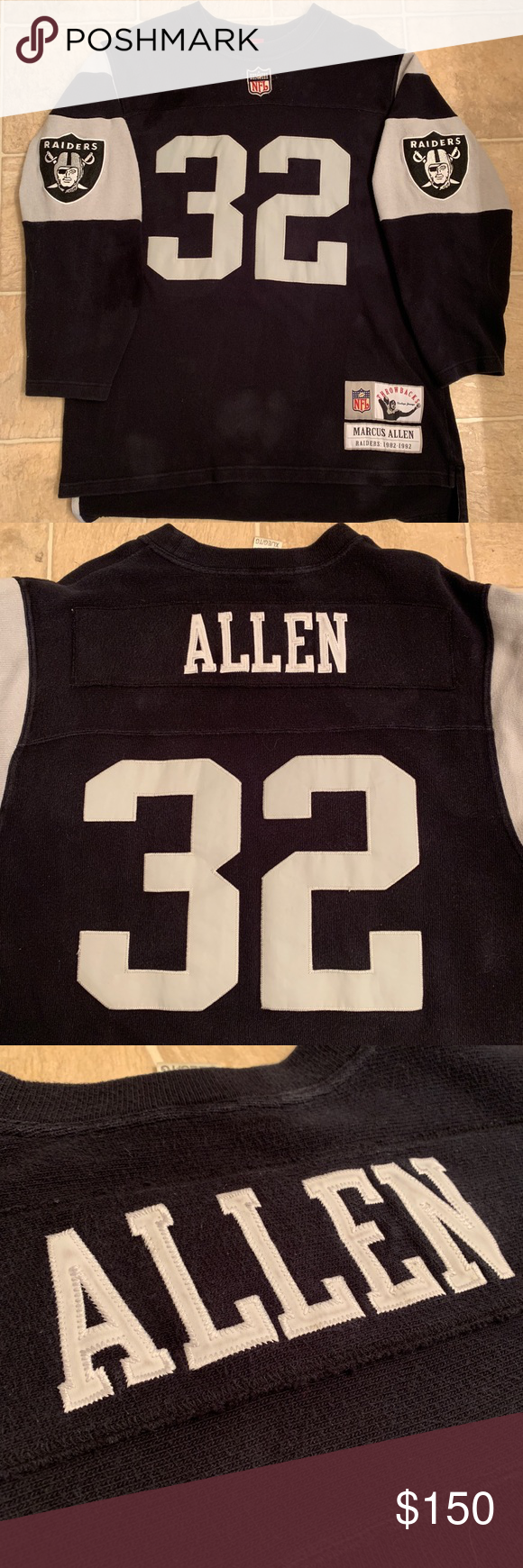 new styles 9e799 54de2 RARE Vintage Marcus Allen Throwback Raider Jersey Listed is ...