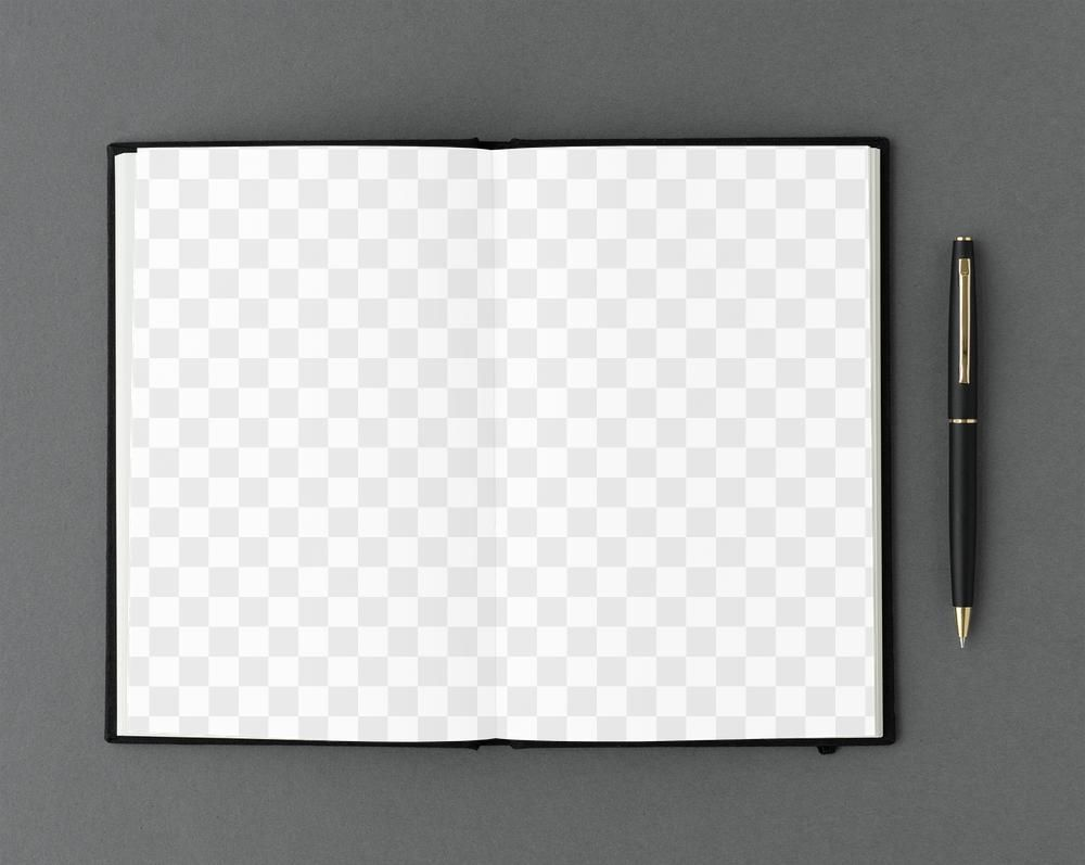 Opened Notebook Page With A Black Pen Design Element Free Image By Rawpixel Com Ake Pen Design Design Element Black Paper Texture