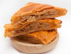 Galician empanada stock photo