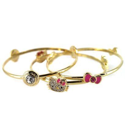 0a83dff91 Hello Kitty Bangle Bracelet - Gold   Sanrio Jewelry   Hello kitty ...