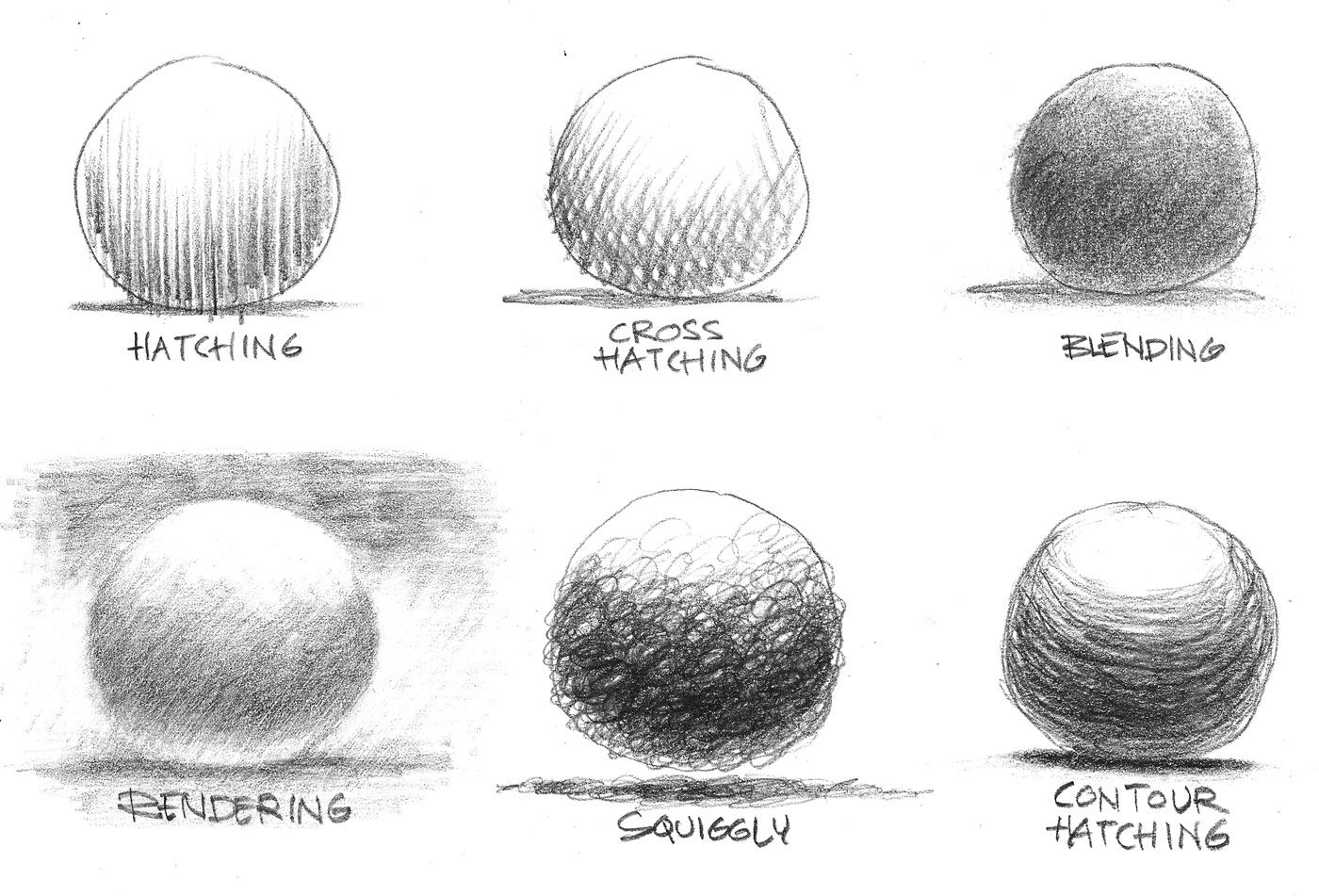 Sketching Techniques Graphite Spheres