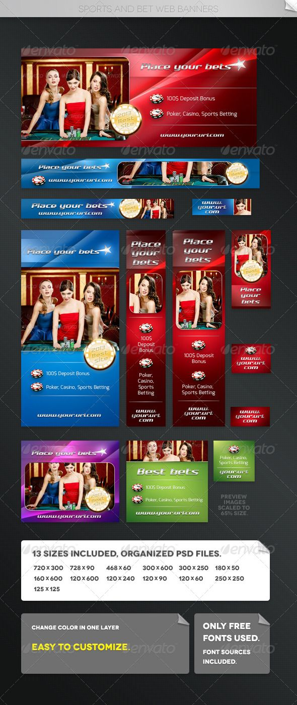 Sports and Bet Web Banners Web banner, Banner template