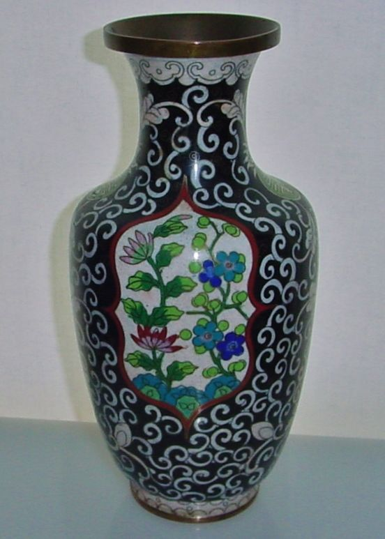 Incredibly Exquisite Cloisonne Vase Early 20th Century Marked China