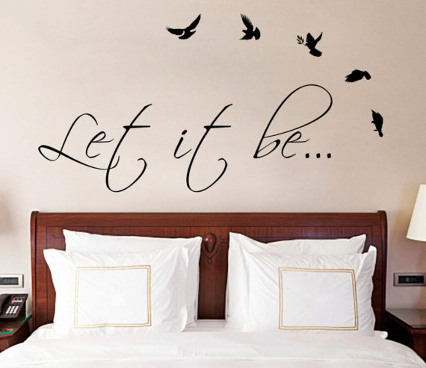 Let It Be The Beatles Music Text Quote Wall Sticker Vinyl Decal For Living Dining Room Or Bedroom