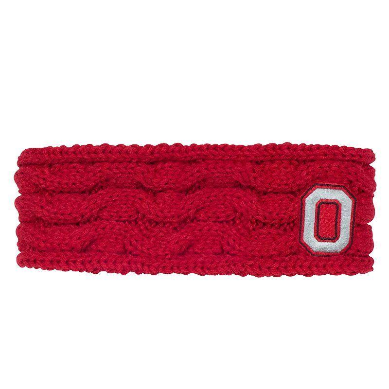 Women's Ohio State Buckeyes Cable-Knit Headband, Brt Red
