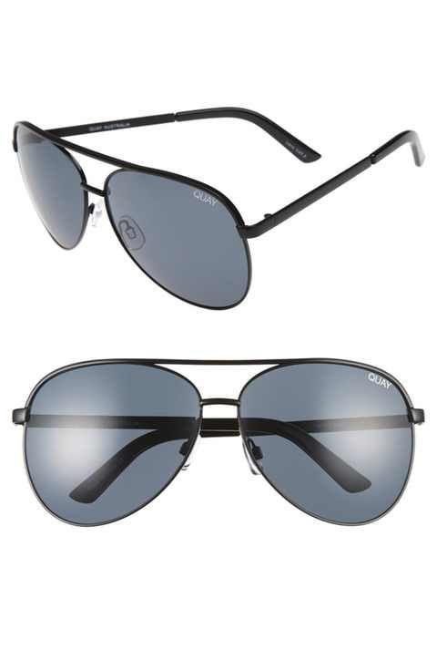 3f5c12369dc8 Quay Australia Vivienne 64mm Aviator Sunglasses