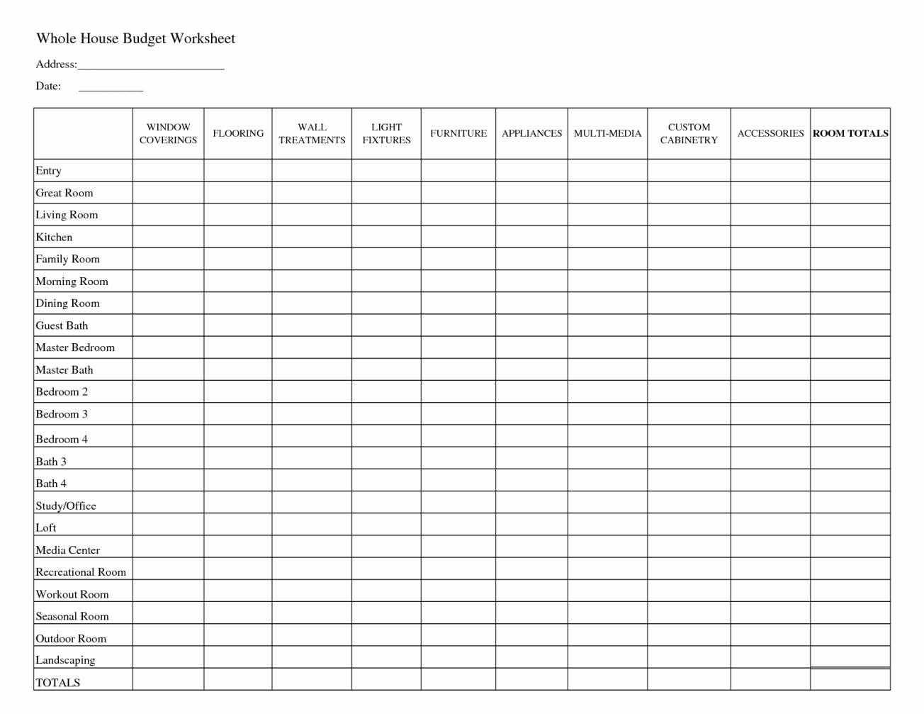 Doc Sample Family Budget Templates Free Household Spreadsheet For Microsoft  Excel And Google Template