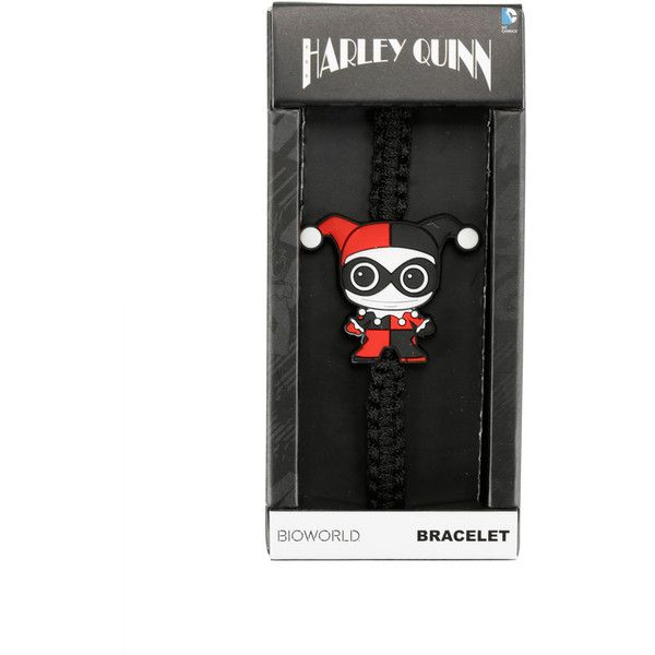 DC Comics Harley Quinn Chibi Cord Bracelet ($4.87) ❤ liked on Polyvore featuring jewelry, bracelets, multi, special occasion jewelry, charm bangles, evening jewelry, cord bracelet and holiday jewelry