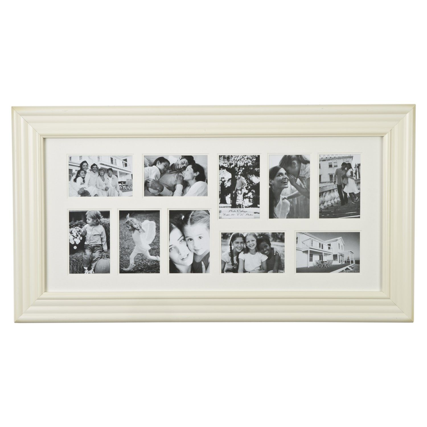 Buy Ivory Mounted Collage Photo Frame 35X75Cm - Gallery -