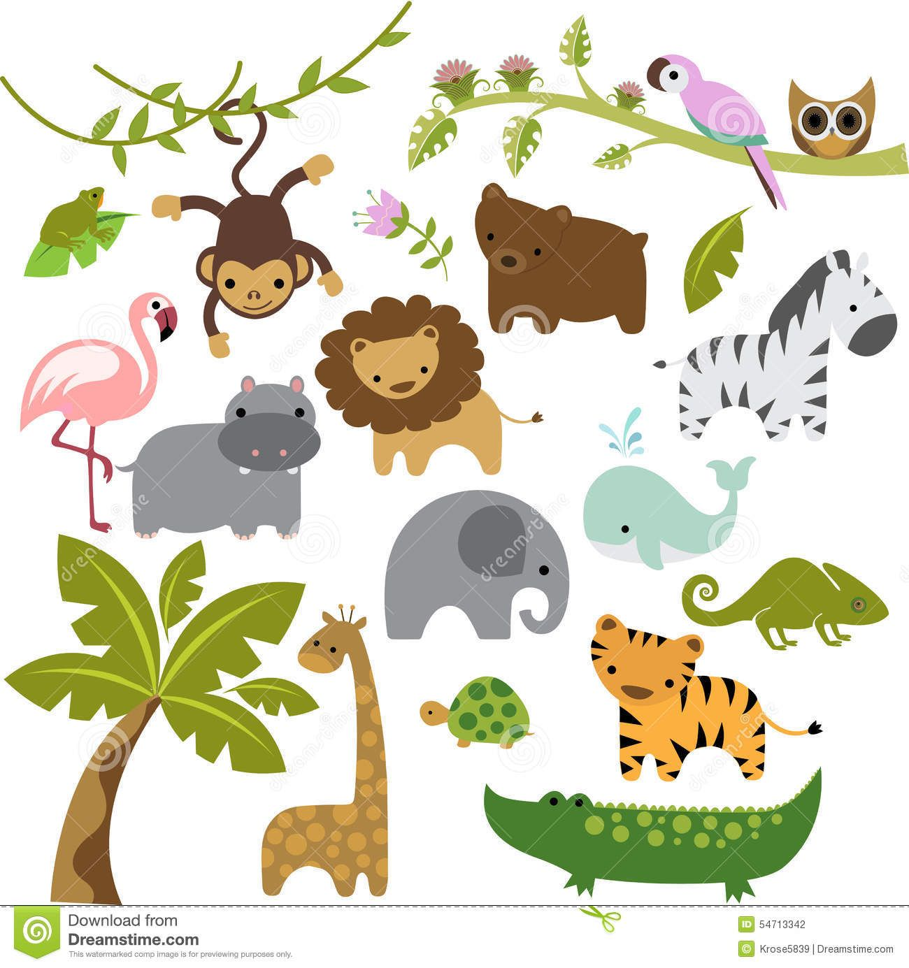Baby Zoo Animals Vector Clipart Stock Illustration - 54713342 Cake Boy