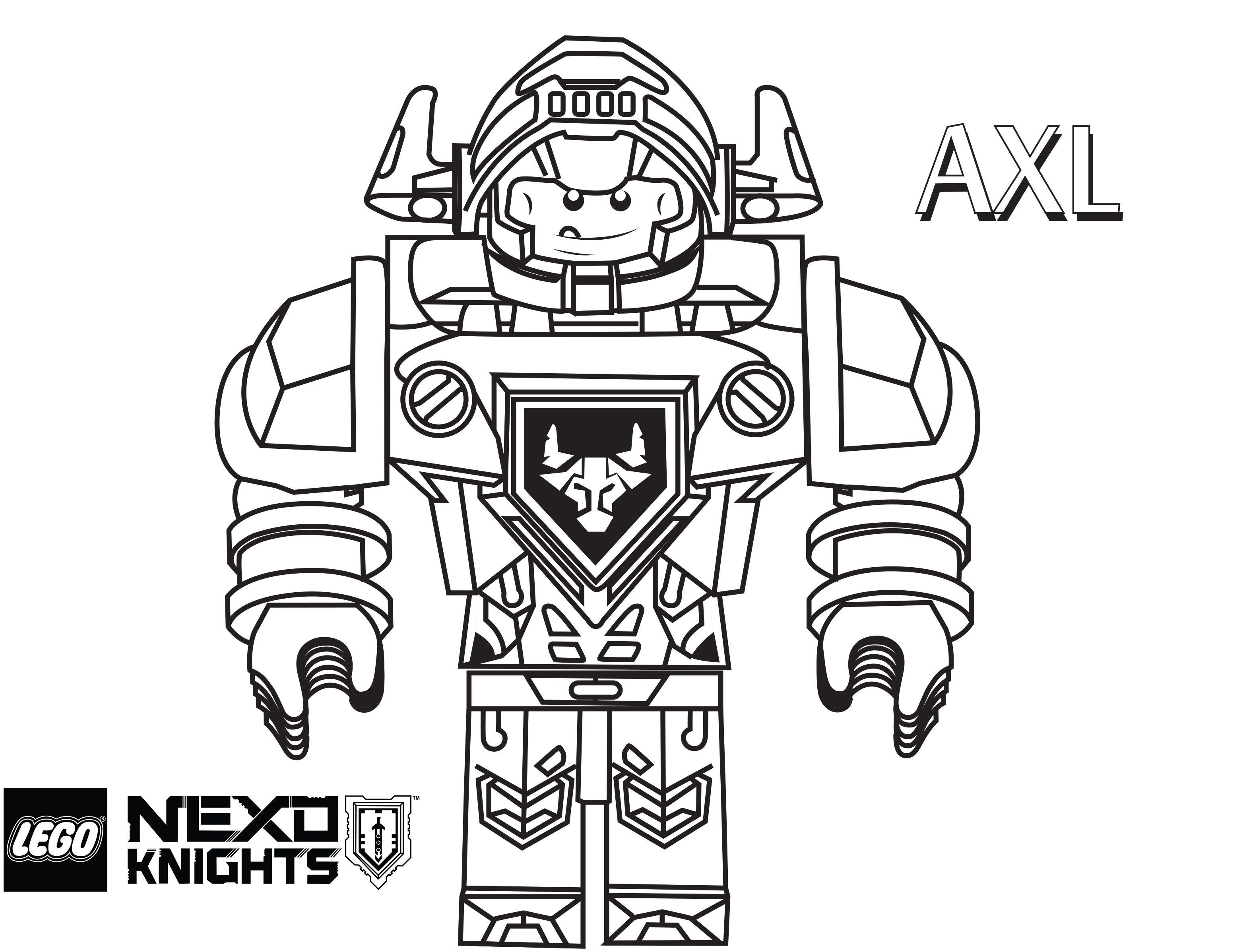 LEGO Nexo Knights Coloring Pages : Free Printable LEGO Nexo ...