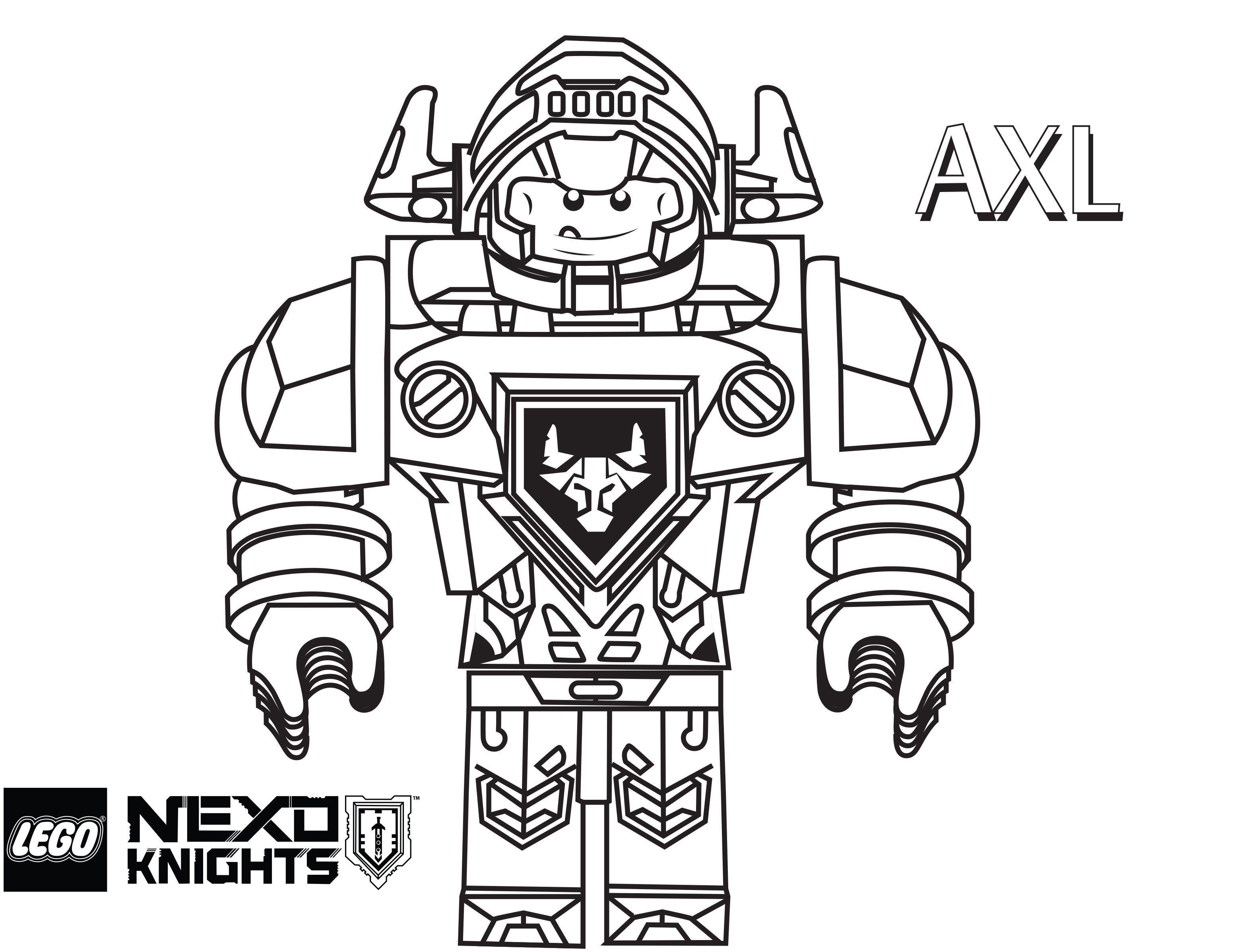 Nexo Knights Ausmalbilder Lego : Lego Nexo Knights Coloring Pages Free Printable Lego Nexo