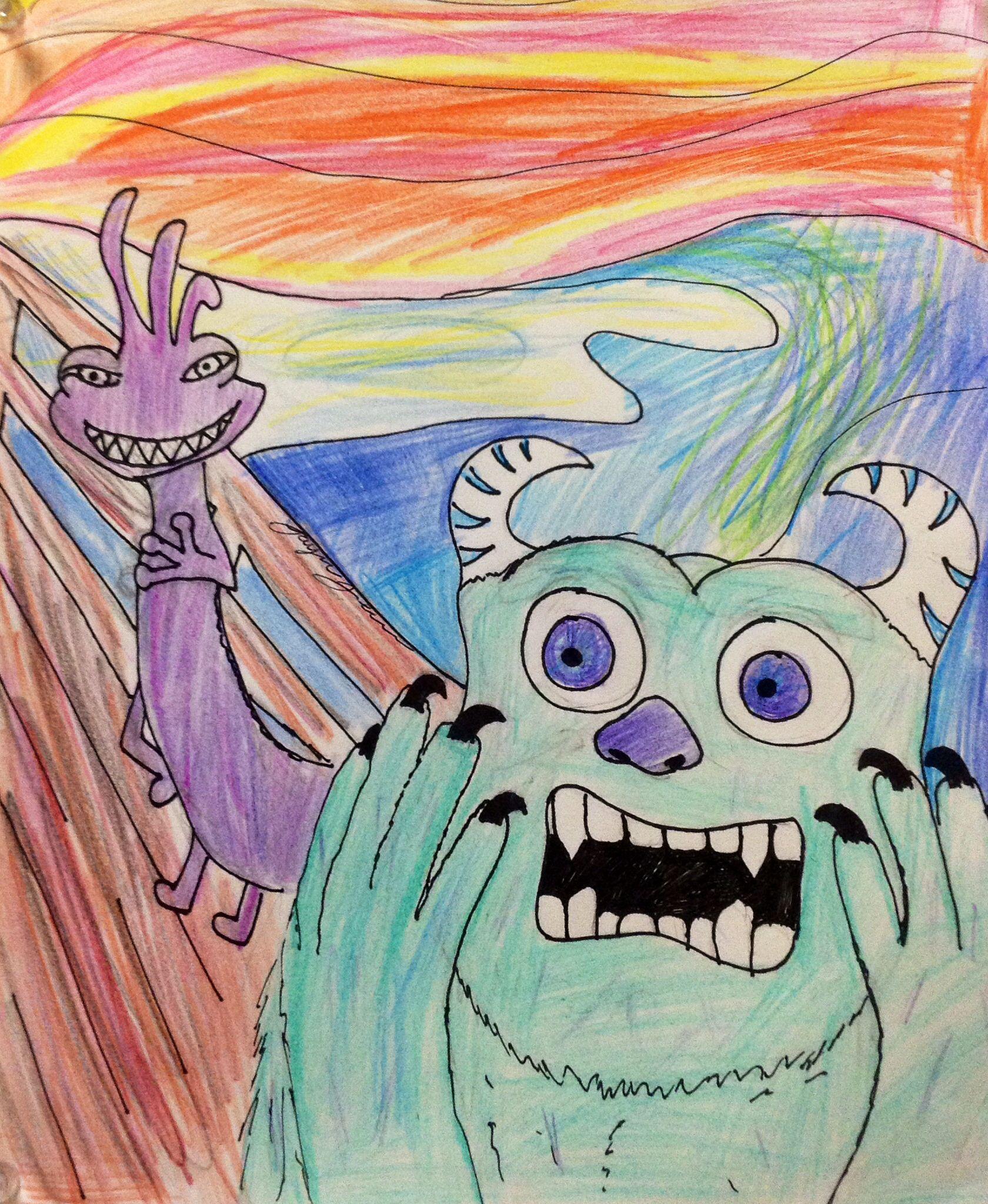 The Scream parody   Art parody, Scream parody, Elementary art