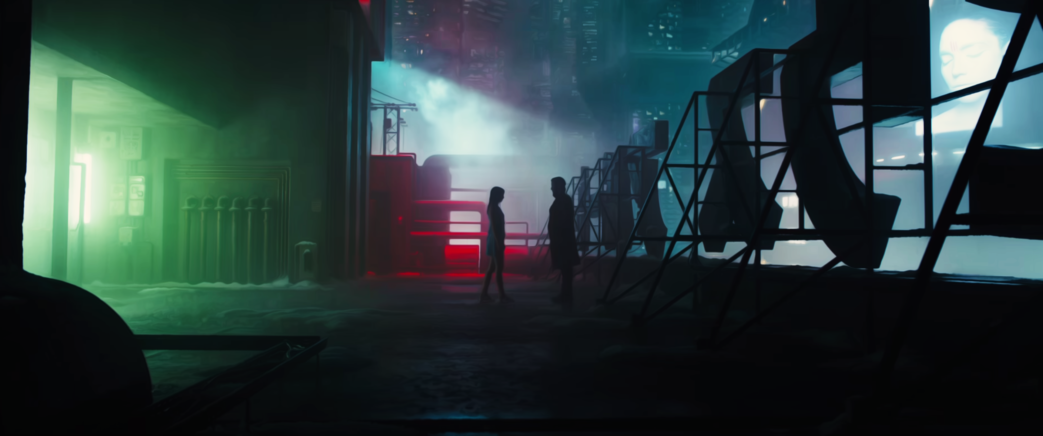 Blade Runner 2049 [3440x1440] Paisagem fantasia