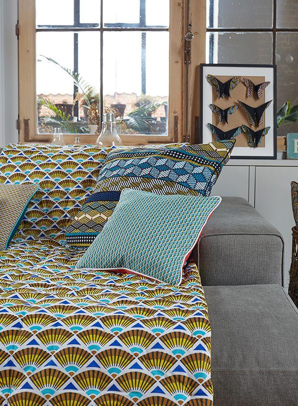 Nouvelle collection printemps t kinshasa canap wax d co d coration ethnique coussin - Blog couture deco maison ...
