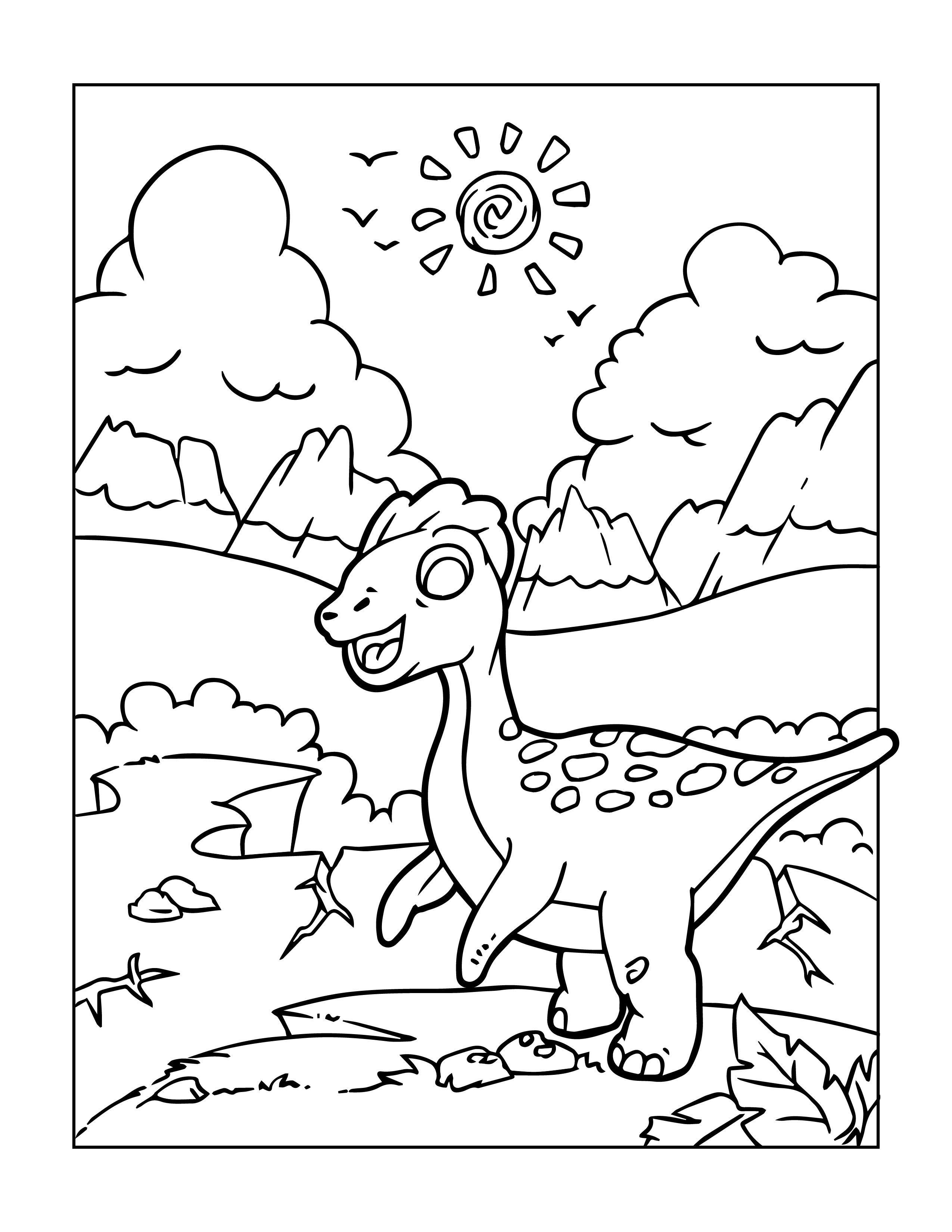 dinosaurier malvorlagen für groß und klein zum kostenlosen