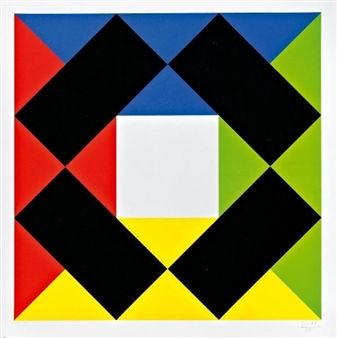 White-based composition By Max Bill ,1985