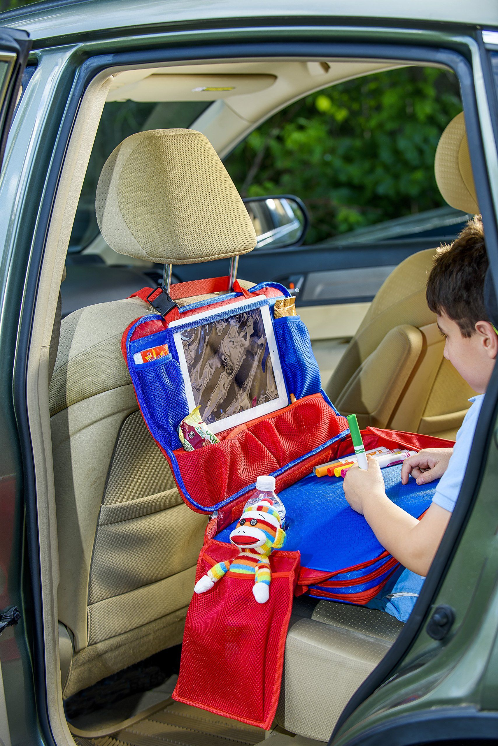 Kids Travel Tray Portable Waterproof Car Backseat Activity