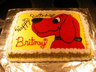 Prime Coolest Clifford The Big Red Dog Cakes And How To Tips Birthday Personalised Birthday Cards Petedlily Jamesorg