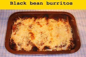 Black bean burritos  The post Black bean burritos recipe Cooking with chillies a…