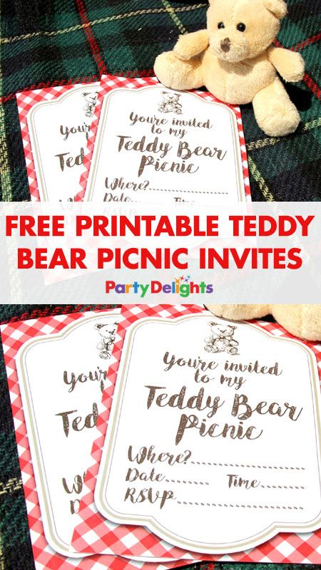 Free Printable Teddy Bear Picnic Invites Picnic invitations