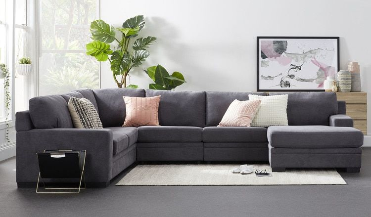 Willow 6 Seat Corner Lounge With Reversible Chaise Living Room Styles Chaise Corner Sofa Australia