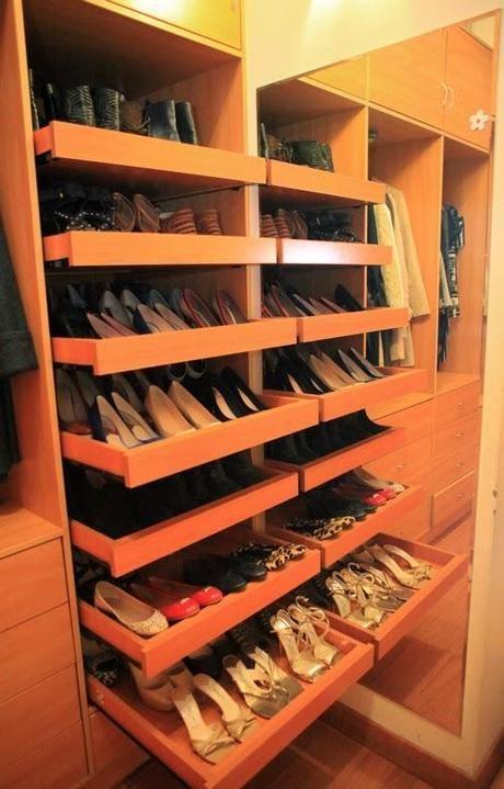 Zapatera ideal para un closet peque o dise o closet dresser wine rack and armoires for Zapateras para closet