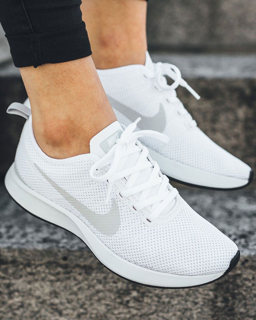 Nike S Dualtone Racer Gets Touched By An Angel White Nike Shoes Womens White Nike Shoes Sneakers Fashion