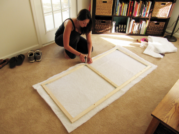 Pin de lina escobar en made pinterest para el hogar - Como hacer un cabezal para la cama ...