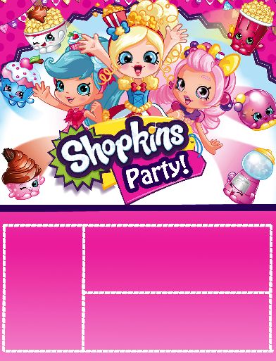 graphic regarding Free Printable Shopkins Invitations known as Totally free Shopkins Shoppies Birthday Get together Printable Documents