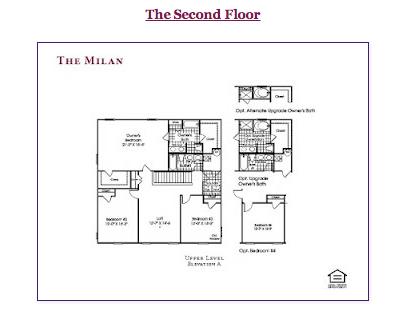 Ryan Homes The Milan Second Floor | Ryan Homes Milan Model ...