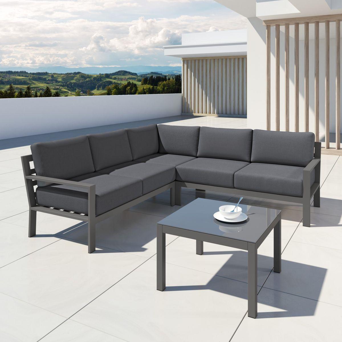 Salon de jardin aluminium design, MIO | Products | Ensemble ...
