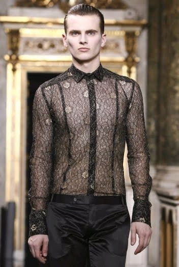 Men's sheer shirt by lexus-rx300, via Flickr | Cross ...