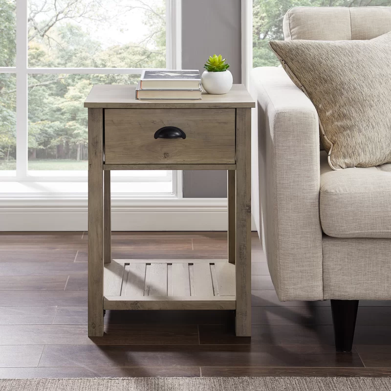 Laurel Foundry Modern Farmhouse Kasey 1 Drawer End Table With