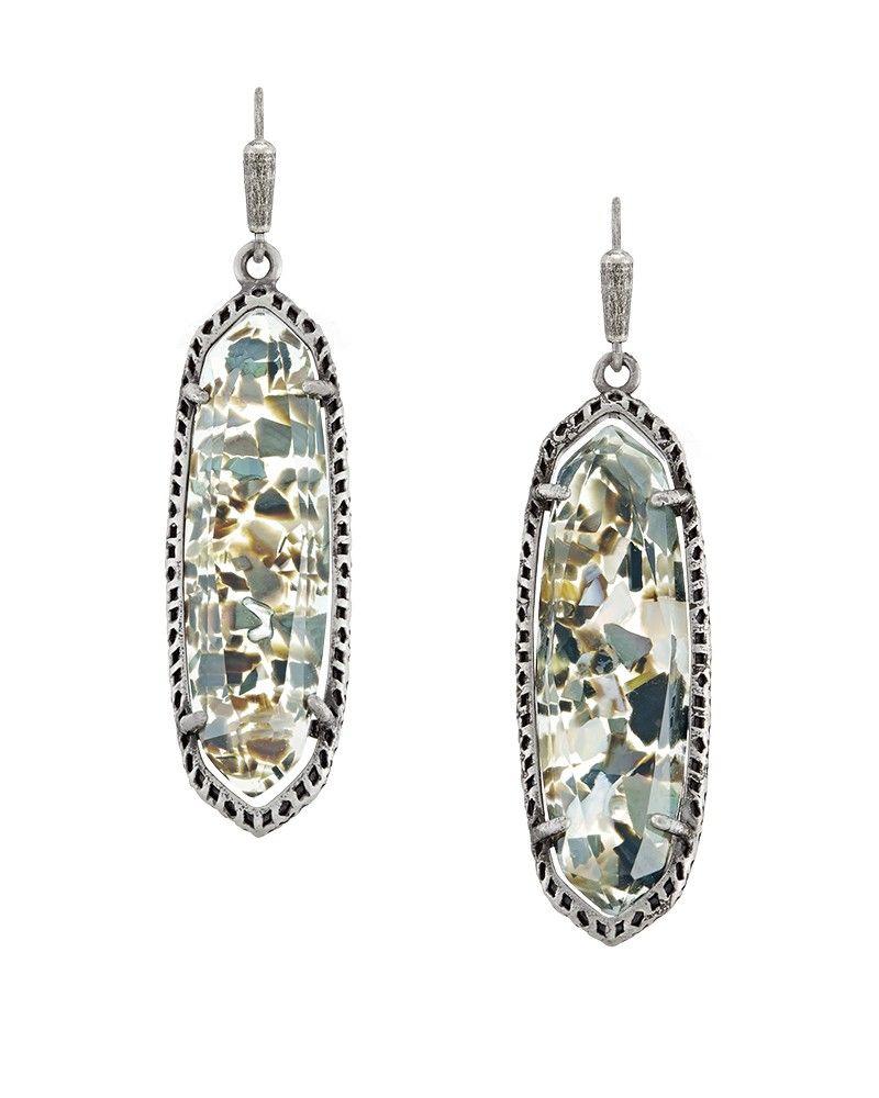 Layla Earrings In Crushed Black Pearl  Kendra Scott Jewelry