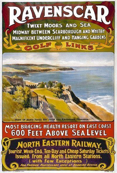 TR74 Vintage Ravenscar Yorkshire North Eastern NER Railway Poster Re-Print A4