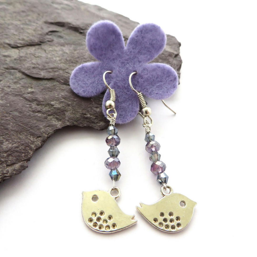 Silver bird earrings make the cutest easter gifts handmade in uk silver bird earrings make the cutest easter gifts handmade in uk by quiddity gifts negle Image collections