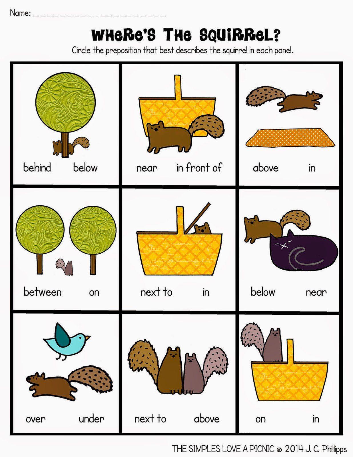 20 Free Printable Preposition Worksheets In