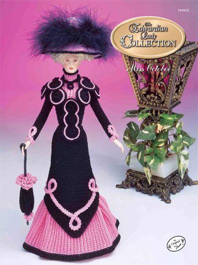 Barbie Crochet: The Edwardian Lady Promenade Costume Miss October 1996, $3.95 on e- patternsCentral