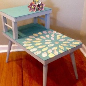 Best Two Tiered Revamped Endtable Diy End Tables Refinishing 400 x 300