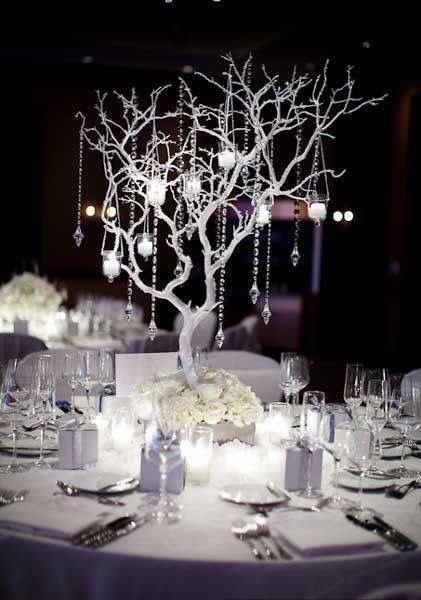 Decoration Table Mariage Arbre.Centre De Table Arbre Blanc Déco Tables Mariage En 2019